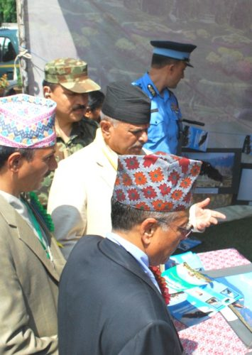 First President of Nepal Dr Yadav Observes Vulture Photo Exhibitions